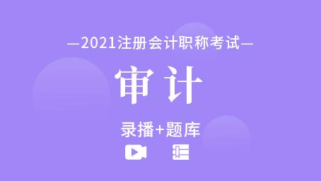 2021年注册会计师-审计(录播+题库)