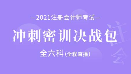 2021年注册会计师-冲刺密训决战包(全六科)