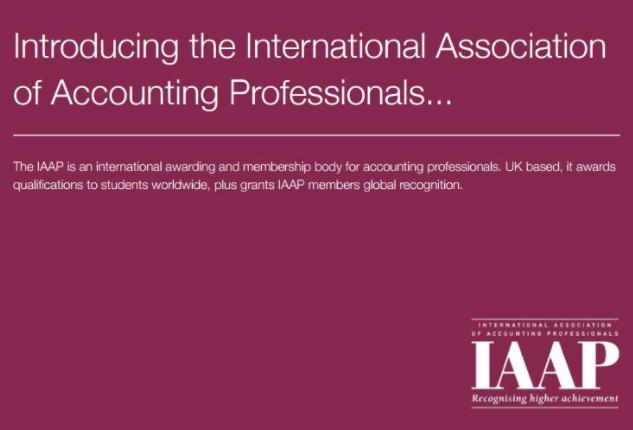 英国国际专业会计师公会IAAP认证考试通知